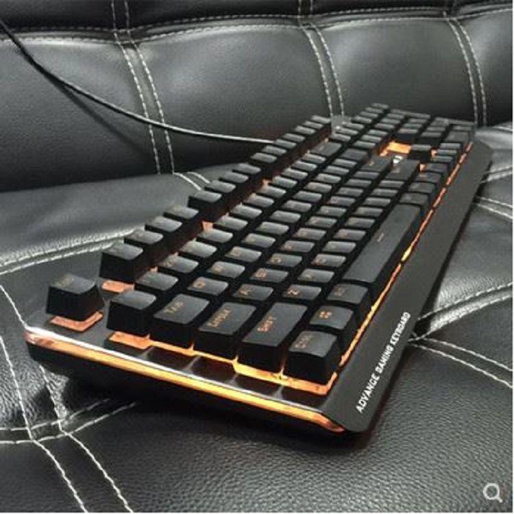 磁动力ZK21游戏键盘悬浮式防水防尘机械手感USB网吧专用吃鸡键盘