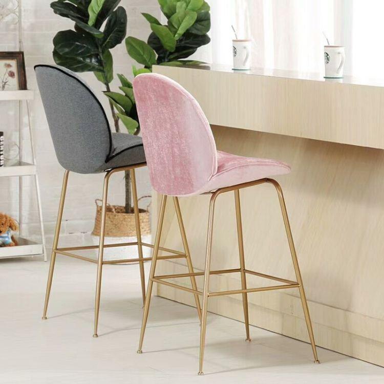 北欧甲壳虫靠背吧台椅酒吧个性创意高脚吧台凳简约休闲咖啡厅椅子