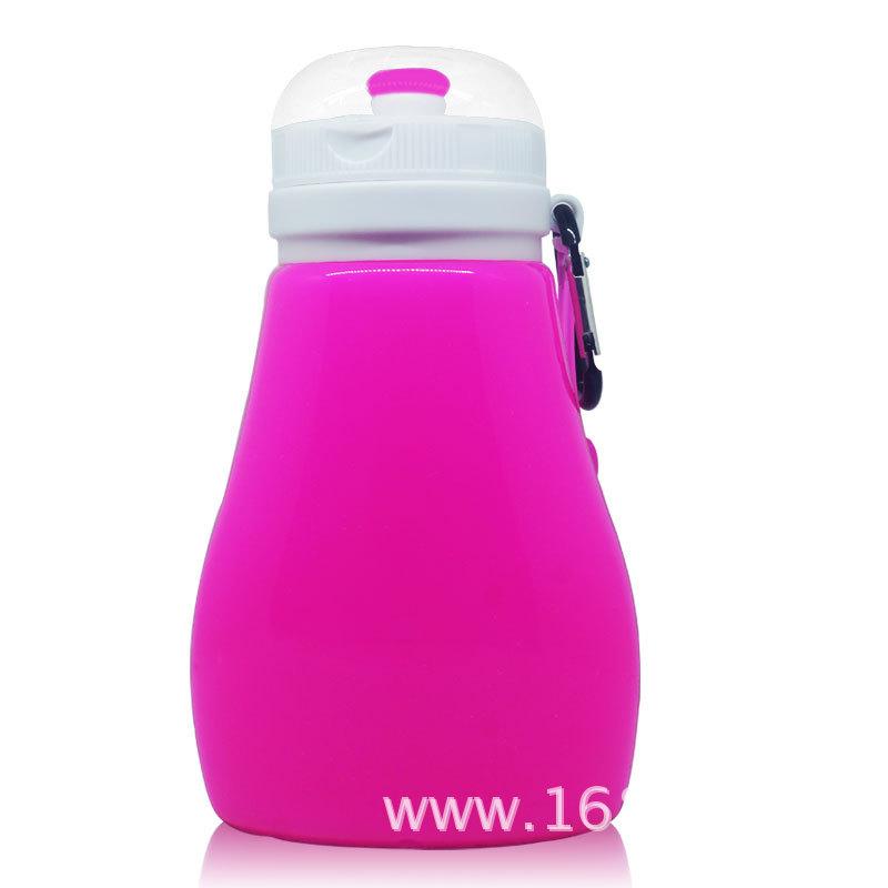 硅胶折叠水壶便携水杯旅行创意大肚容量水瓶硅胶防漏户外运动水壶