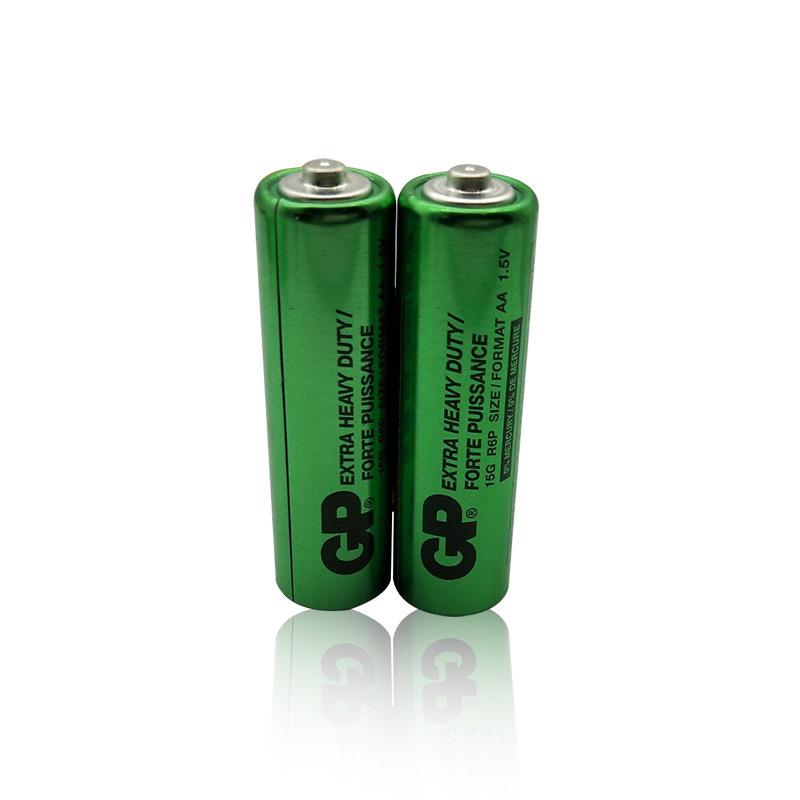 高容量不漏液环保无汞GP15G R6P超霸5号碳性电池
