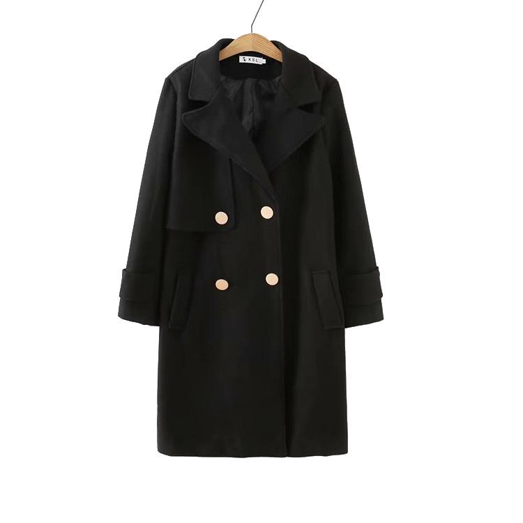 2018新款大码女装200斤胖mm宽松显瘦呢大衣冬季加棉加厚毛呢外套