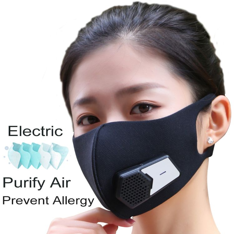 防雾霾PM2.5电动口罩智能呼吸阀防粉尘工业电子户外旅行防护口罩