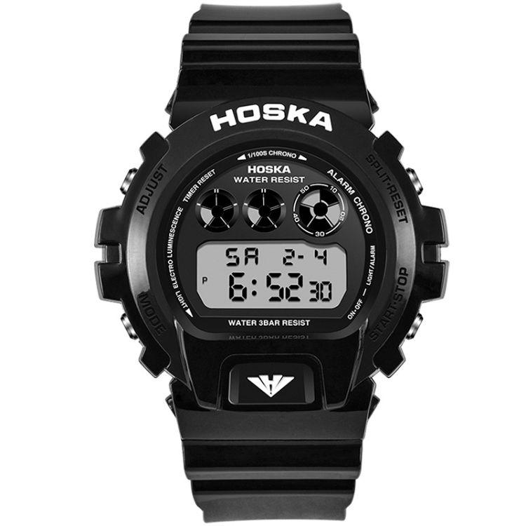 好时佳(HOSKA) H056B手表电子表男士运动防水夜光电子手表