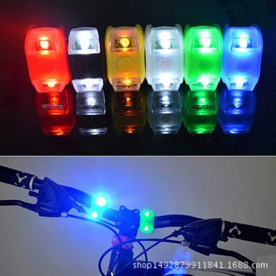 新款HY自行车第六代青蛙灯厂家直销硅胶LED警示灯尾灯 山地车配件
