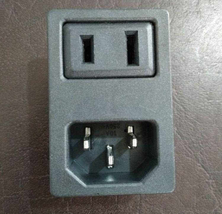 连体插座AC09二合一电源插座现货供应尼龙材料