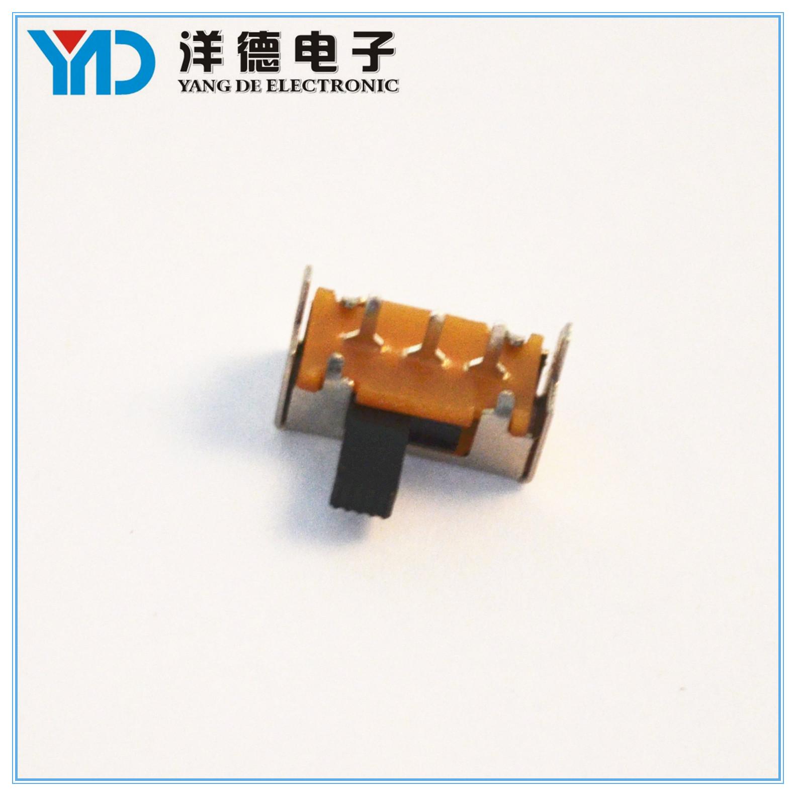 供应MSS-1210单极三位电器开关滑动开关 电子玩具拨动滑动开关