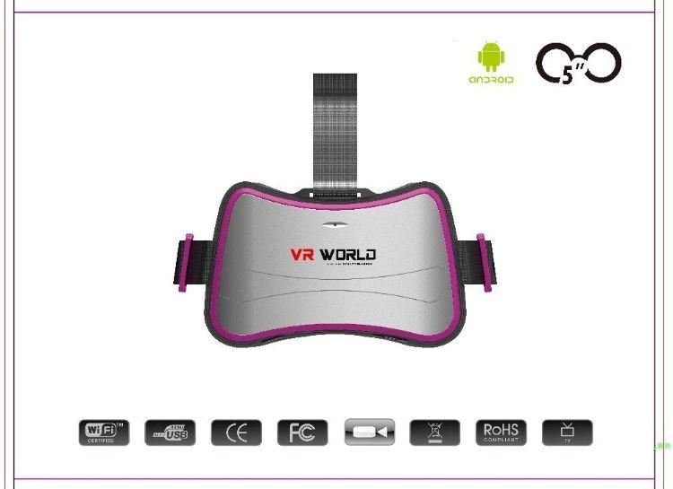 四核WIFI连接 VR一体机3D眼镜虚拟现实头盔高清触摸大屏