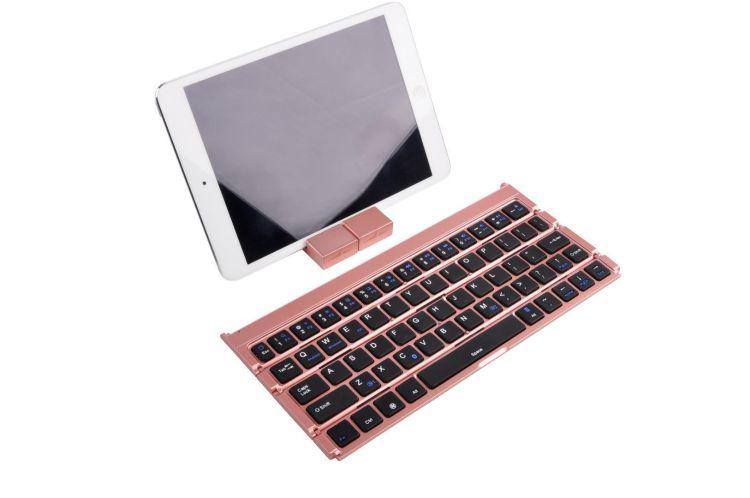 新款四折蓝牙键盘带手机支架手机平板电脑通用礼品定制无线键盘捷