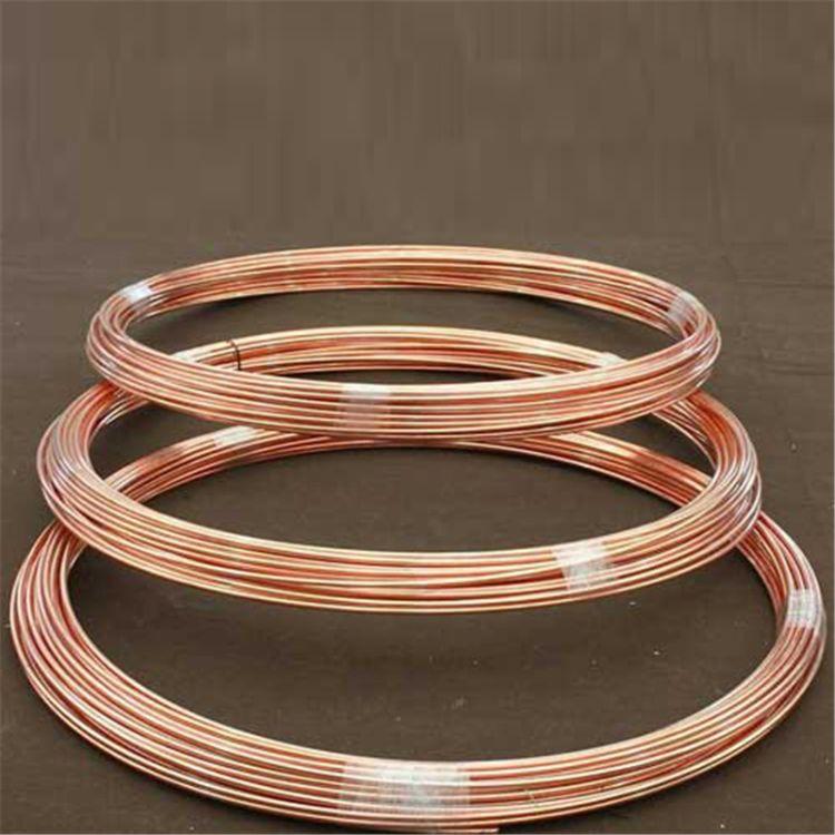 华野定制生产镀铜圆钢 铜包钢圆线 接地圆线 电镀铜包钢厂家直销现货 镀铜圆线 接地圆线