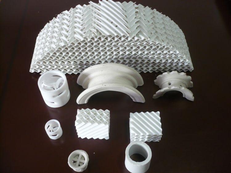 陶瓷鲍尔环 冷却塔填料 鲍尔环波纹规整填料供应