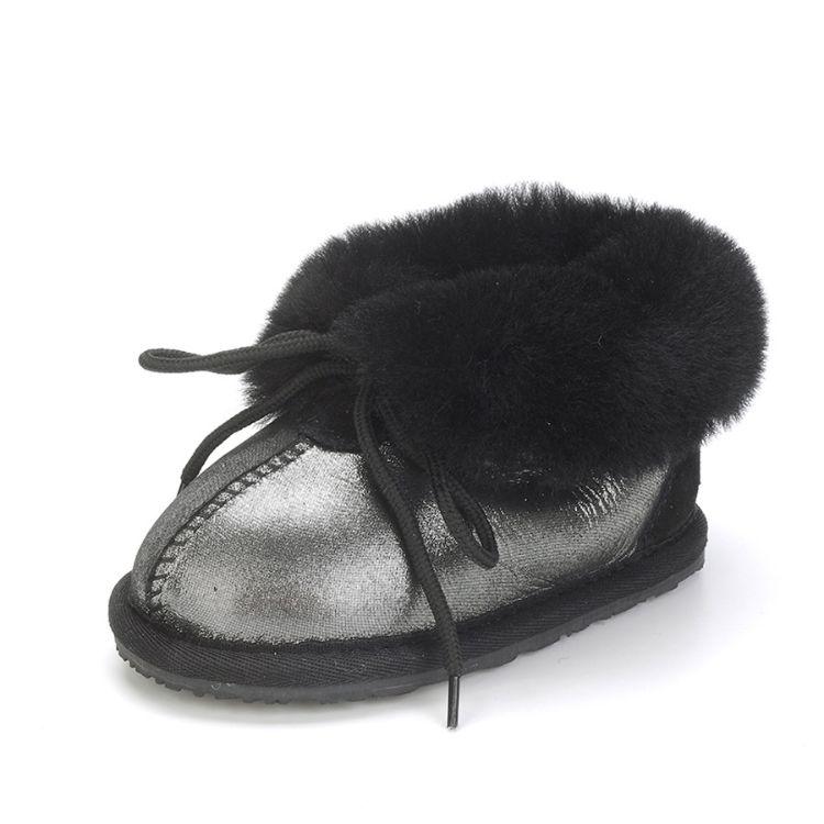 厂家直销冬季新款皮毛一体雪地靴男女婴儿鞋时尚保暖防滑学步鞋