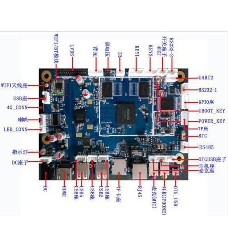 厂家直销瑞芯微RK3188安卓方案开发工控主板 支持Android5.1系统