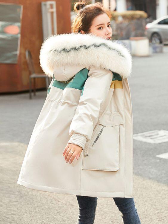 派克棉衣女中长款2019年冬季新款女装韩版宽松羽绒棉服棉袄外套潮女装尾货批发