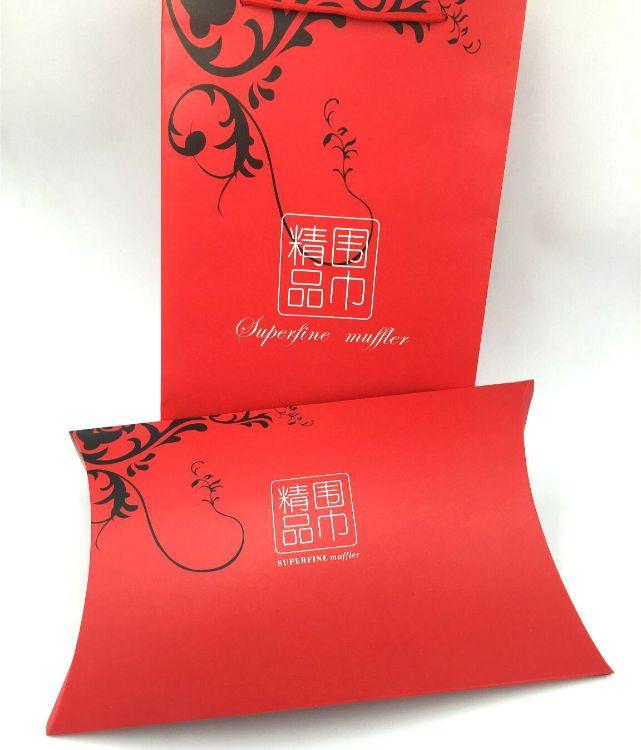 厂家直销现货高档精品围巾礼盒 中国红围巾礼盒 批发