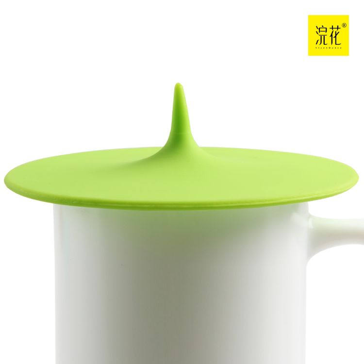跨境货源 创意水滴糖果色硅胶杯盖杯子盖无毒茶杯盖多用杯盖杯子
