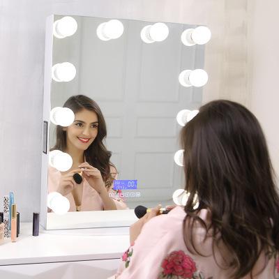 方形led化妆镜球泡灯化妆补光镜