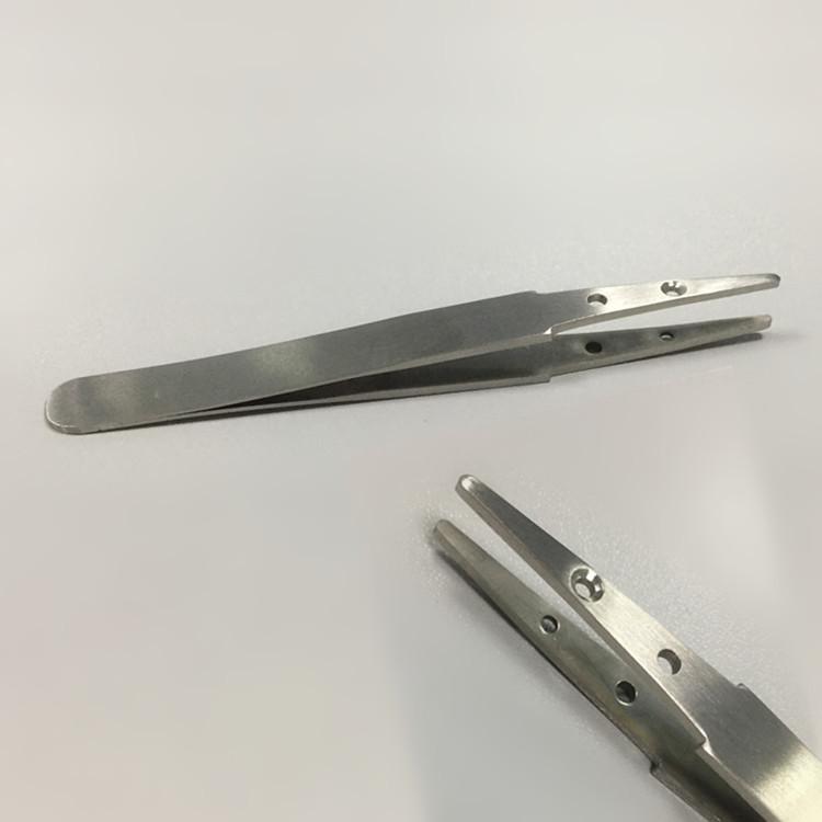 供应高精密高硬度陶瓷镊子手柄不锈钢可换头塑胶镊子手柄电子工具