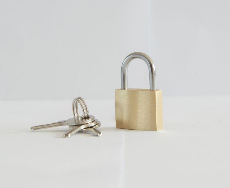 薄型铜挂锁20mm厂家直销箱包锁