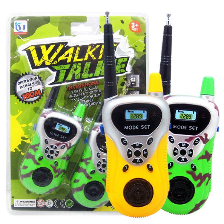 批发远程智能无线通话对讲机亲子互动玩具儿童过家家对讲机玩具