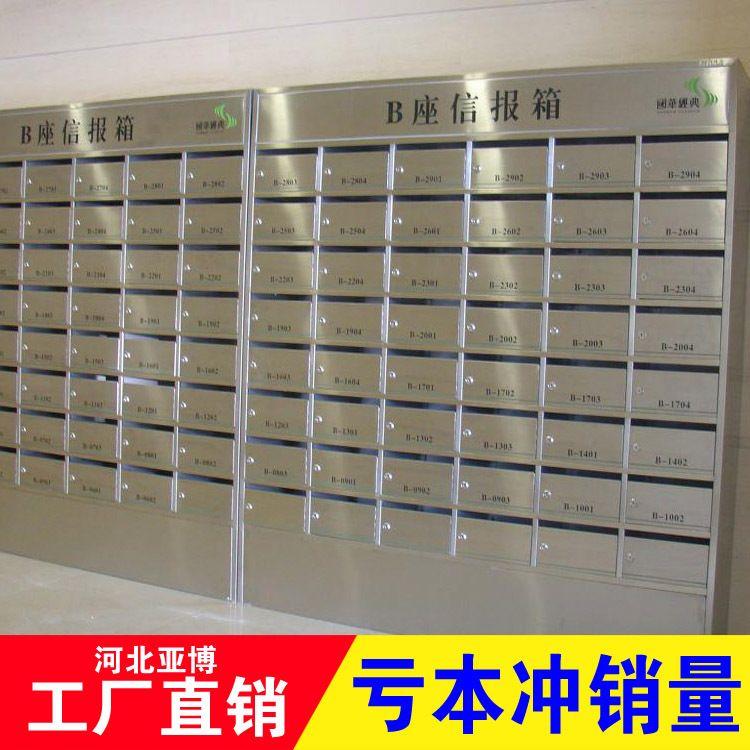 信报箱 不锈钢钢制铁镀锌板小区别墅信报箱 厂家直销 可订做