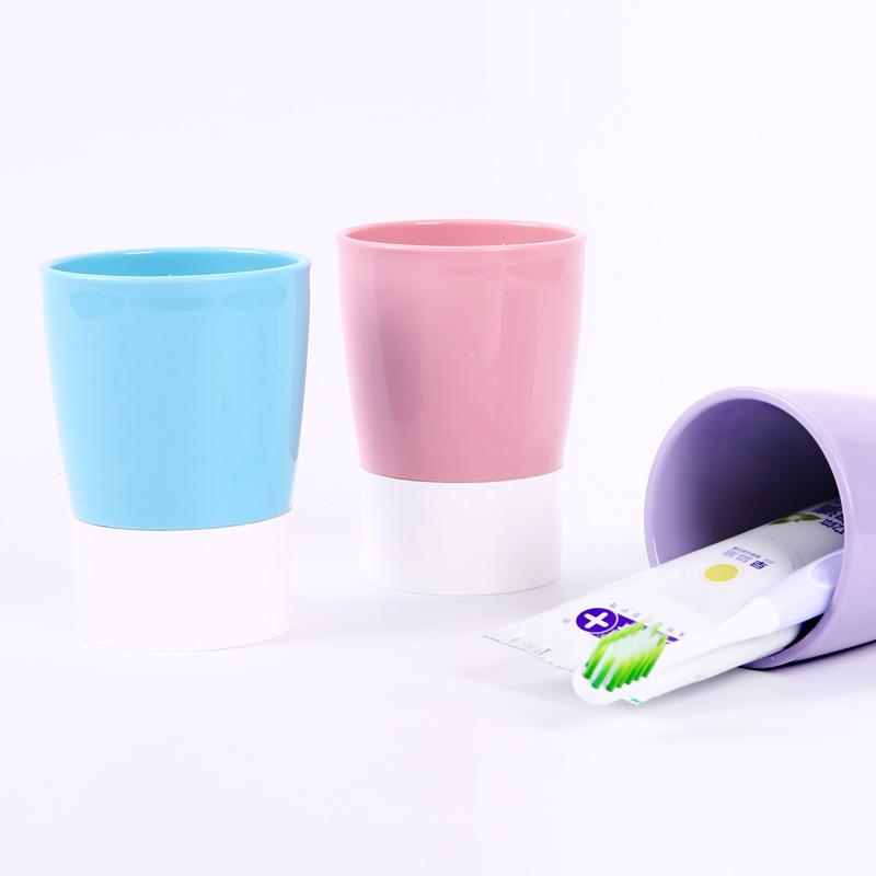 源头厂家直销刷牙漱口简约牙刷杯子可定制加工套装情侣杯家用杯缸洗漱神器塑料环保