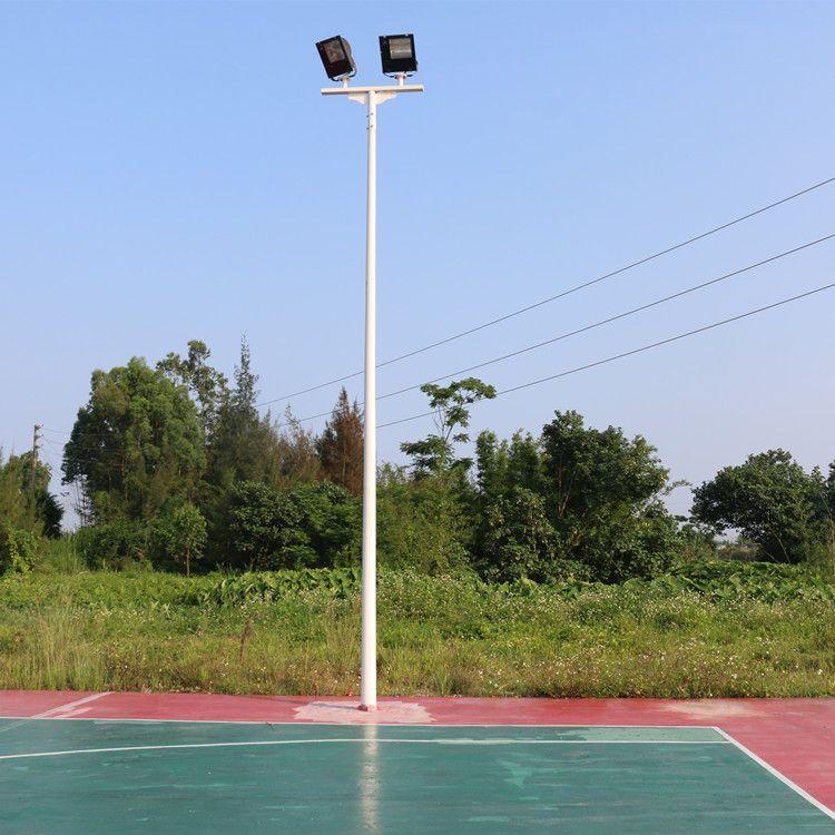 海南户外镀锌管防锈6米球场灯杆/室外篮球球场灯柱包安装