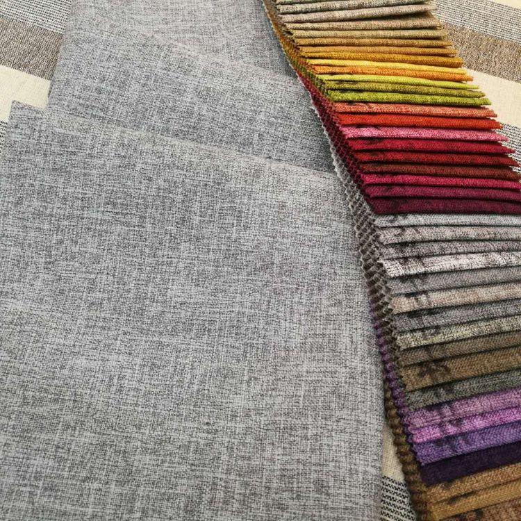 厂家直销棉麻沙发布 加厚耐磨涂层抱枕面料 竹节麻布料 现货供应