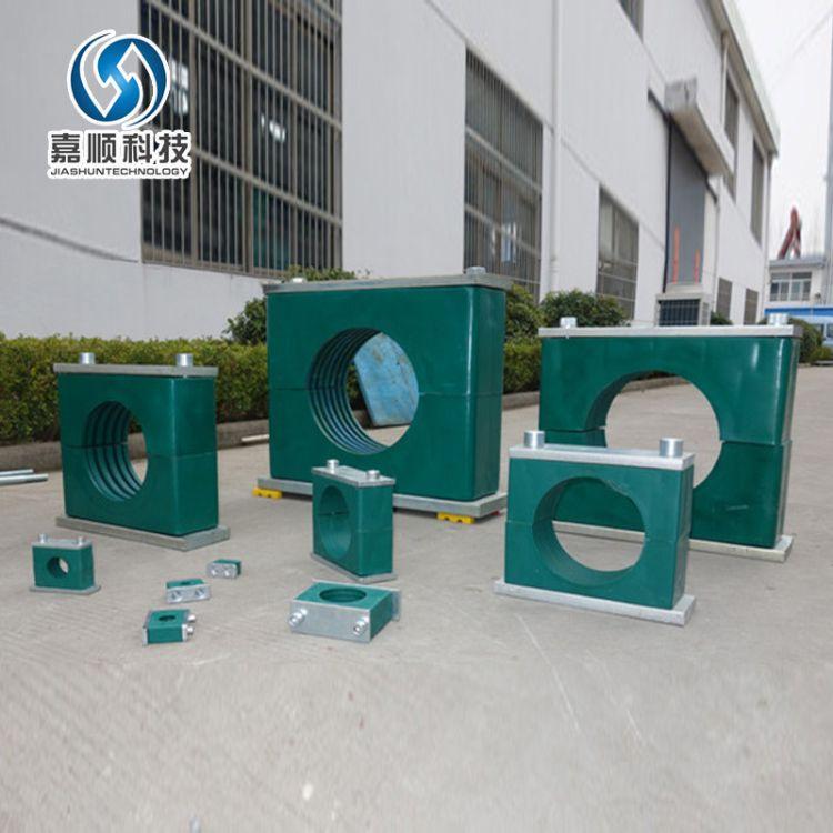 双联双控管夹 安全重型铝合金管夹 耐高低温管夹管卡