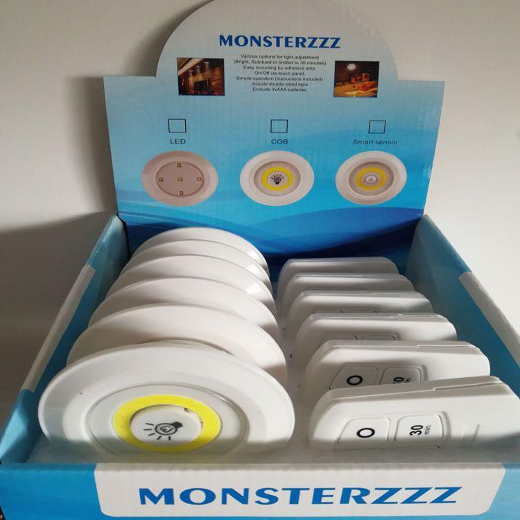 厂家直销展示盒套装红外遥控灯 厨卫灯 小夜灯 拍拍灯
