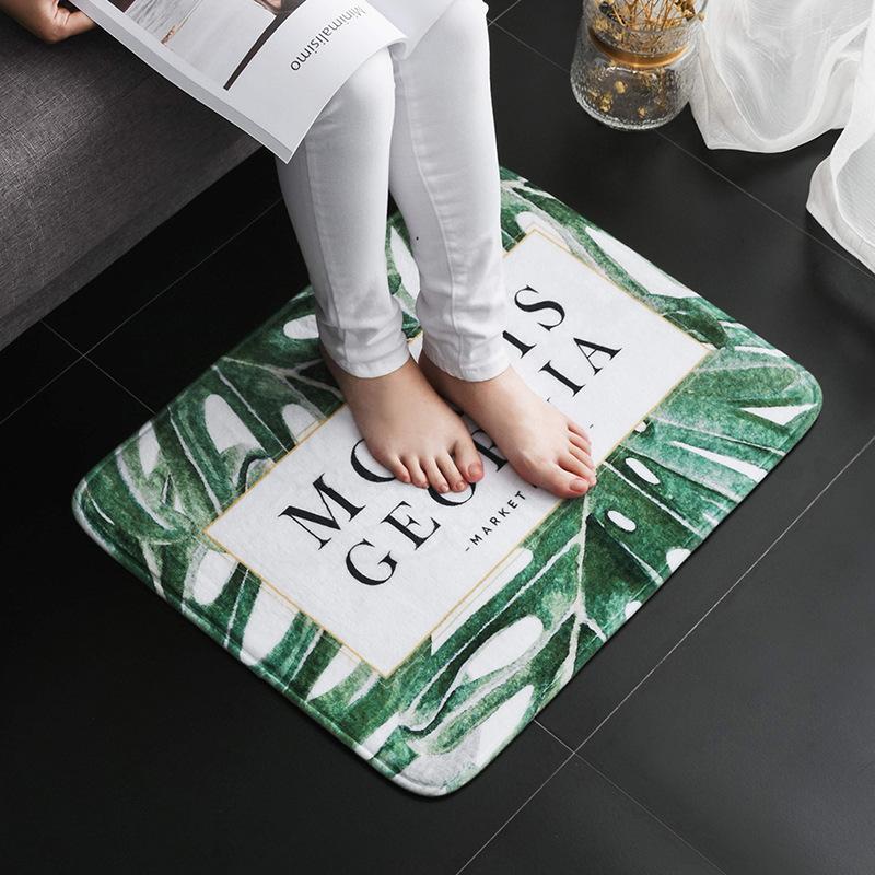 2018法兰绒进门口地垫门垫短款玖悦厨房卧室地毯家用工厂直销