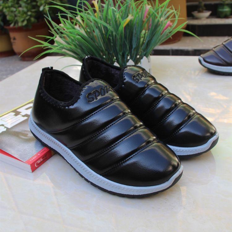 老北京棉鞋男加绒保暖爸爸鞋防滑加厚老人鞋冬季加绒男运动鞋厂家