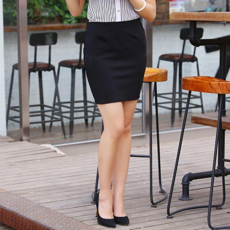 夏季爆款女装OL半身裙 时尚职业装包臀裙无褶短裙 包臀裙定制批发