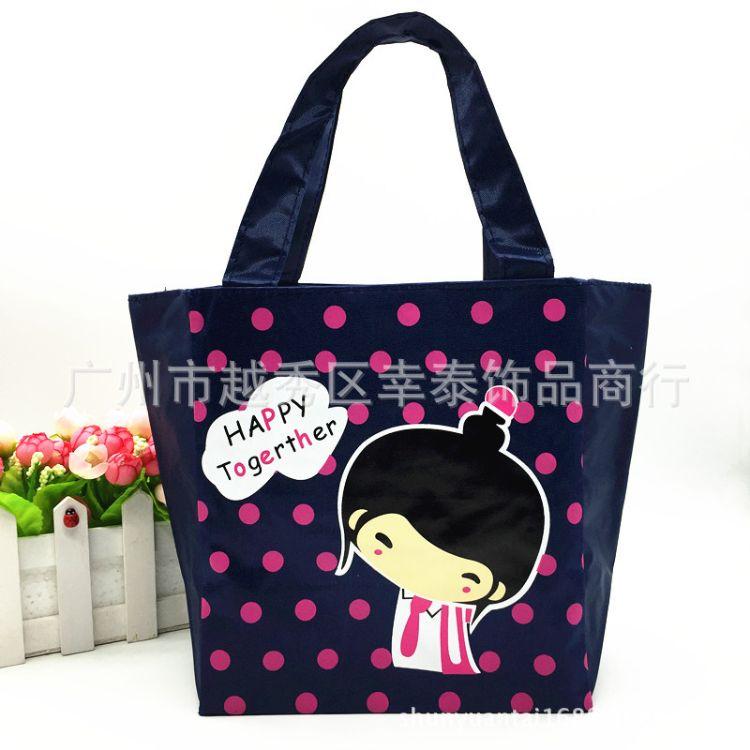 广州袋子厂家供应2015新款时尚卡通学生饭盒袋 儿童便当包