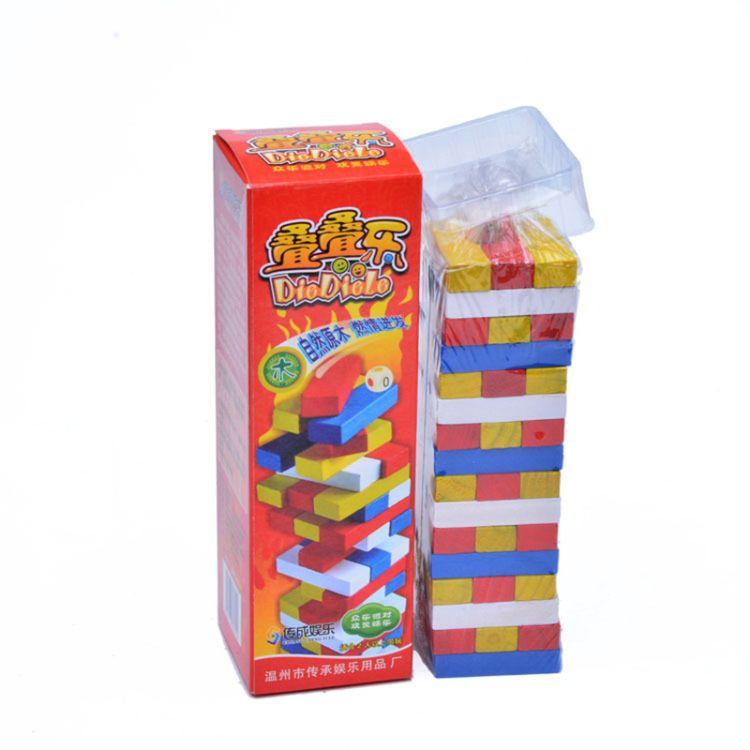 数字层层叠 原木积木叠叠高 叠叠乐 休闲木制玩玩具桌面益智游戏