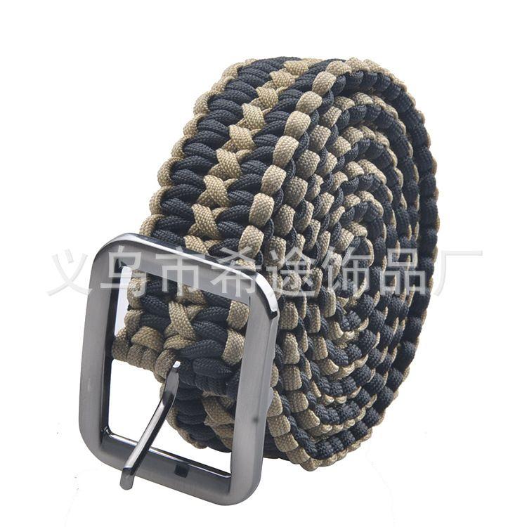 2016新品 军规550磅加强 伞绳腰带 纯手工高品质编织伞绳皮带