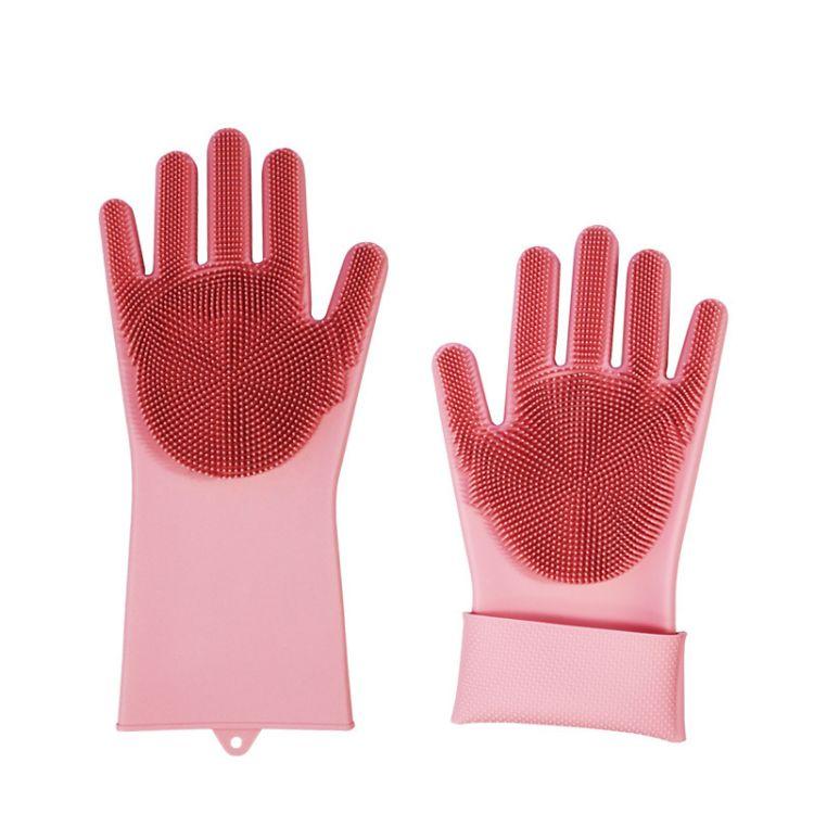 硅胶洗碗手套抖音同款魔术手套环保隔热耐高温多功能清洁神器