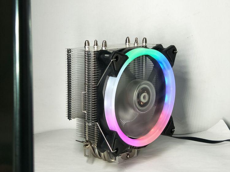 12CM4铜管CPU散热器1366电脑发光风扇双路散热器i7i5/i3AMD处理器