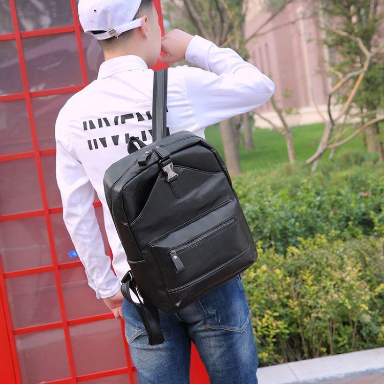 厂家直销2019新款男士双肩包时尚户外旅行包大容量韩版学生背包