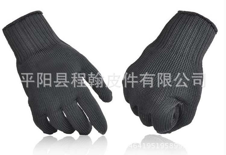 防割手套5级钢丝手套多功能防护防身手套