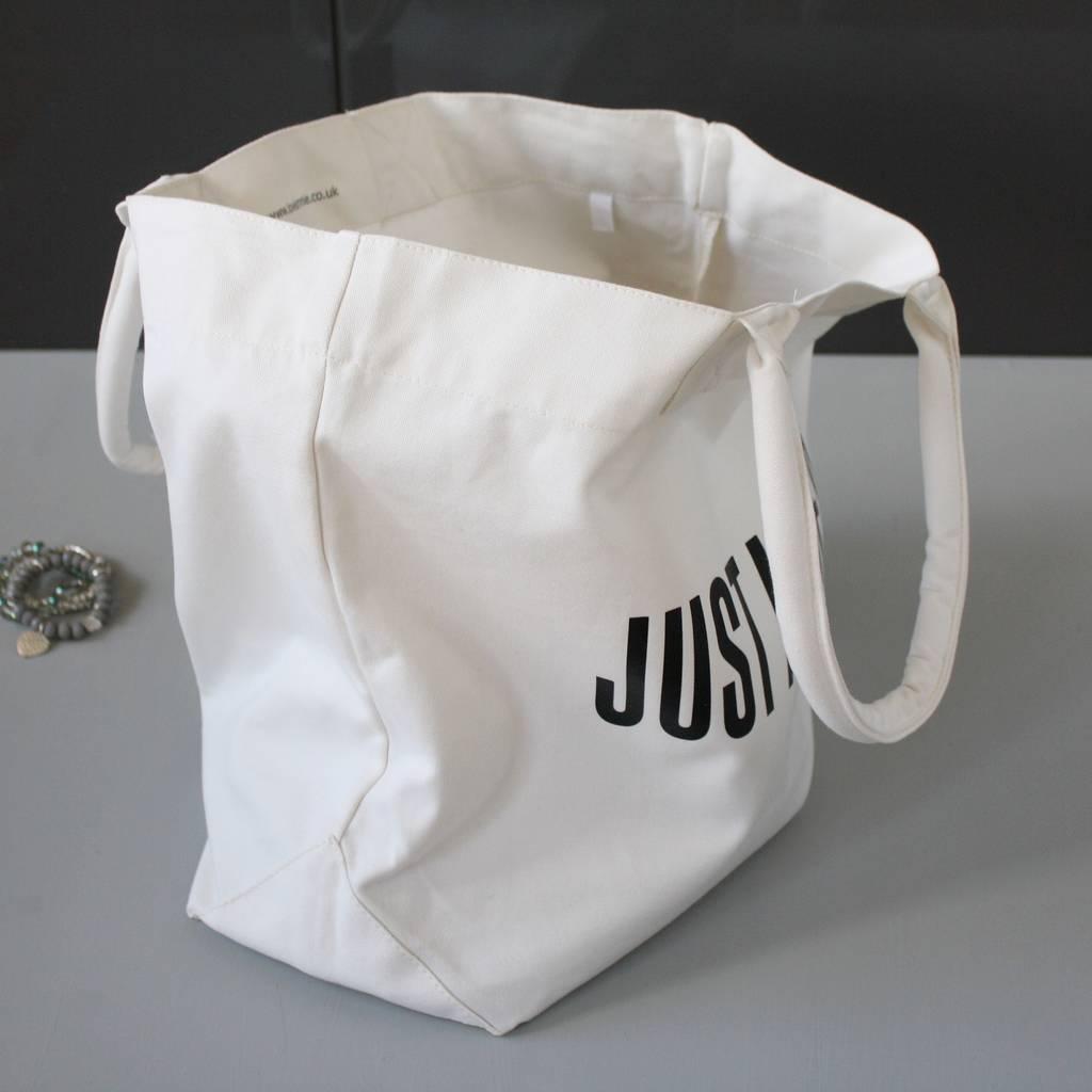 手提单肩背两用帆布袋厂家定做 个性文字组合全棉购物帆布袋定制