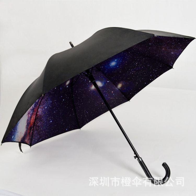 遮阳伞真双层超强防晒太阳伞防紫外线创意商务直杆伞弯手柄可定制