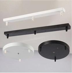 吊灯直盘灯具灯饰配件底盘黑色白色灯座一字长条长方形吸顶盘底座