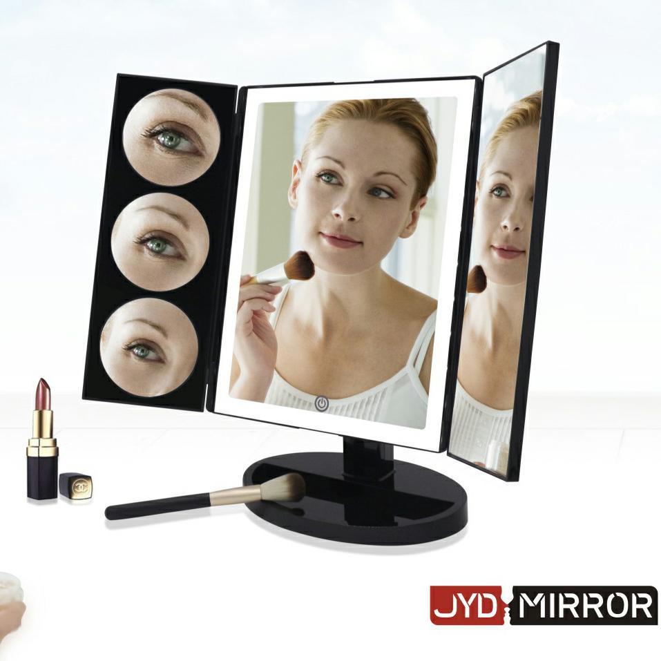 led桌面梳妆台镜 10倍放大led化妆镜 亚马逊热卖发光化妆镜台灯