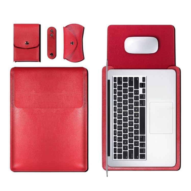 笔记本MacBook防刮内胆包仿皮超薄保护套MacBook电脑包厂家直销