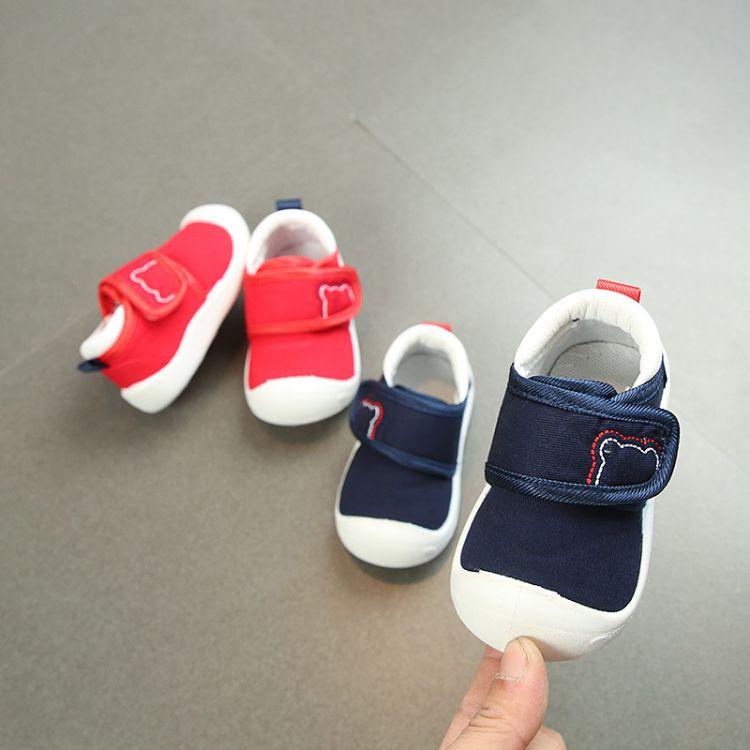 2018秋季宝宝鞋小童学步鞋软底透气婴儿棉布鞋儿童单鞋baby shoes