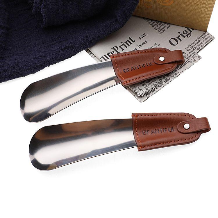 实用型时尚生活用品皮革不锈钢鞋拔鞋抽 家用提鞋器穿鞋器现货