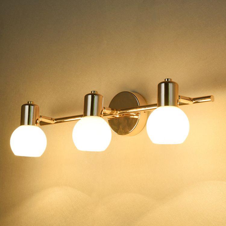 欧式镜前灯衣帽间吸顶灯卫生间洗手盘LED浴室镜柜灯化妆梳妆台灯