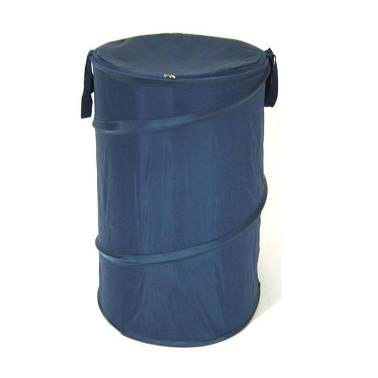 折叠螺旋钢丝圆形脏衣桶脏衣篮