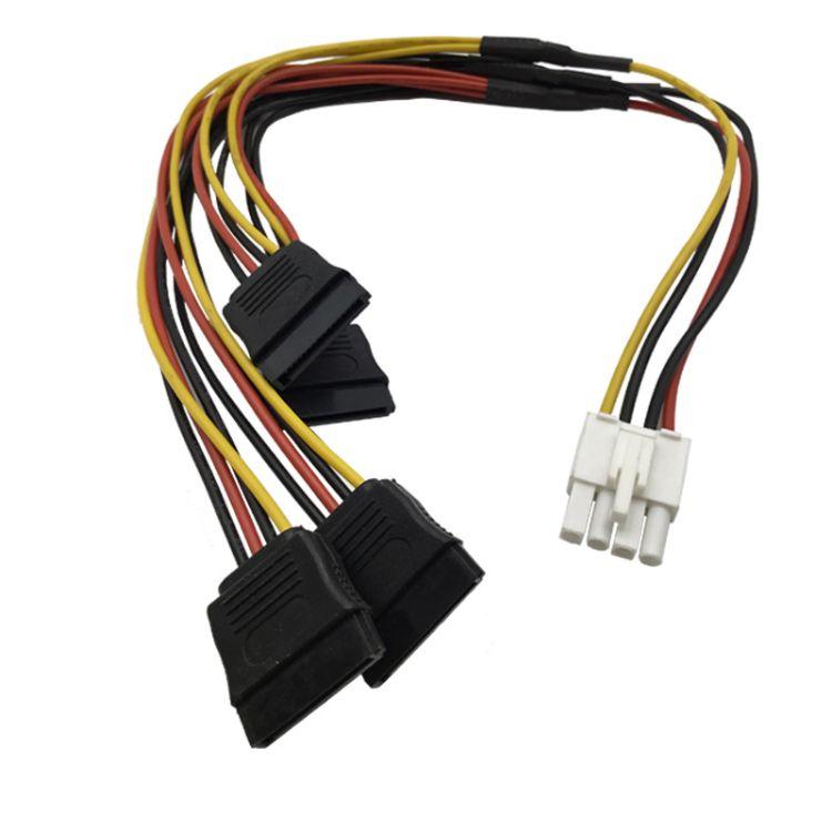 厂家直销 电源线 15针扁平接口 1分4 硬盘电源线 定制加工