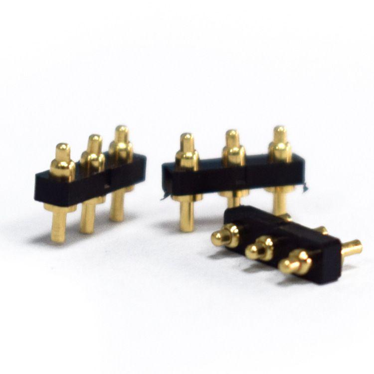 供应智能穿戴3pin触点弹簧针  pin顶针连接器电流针